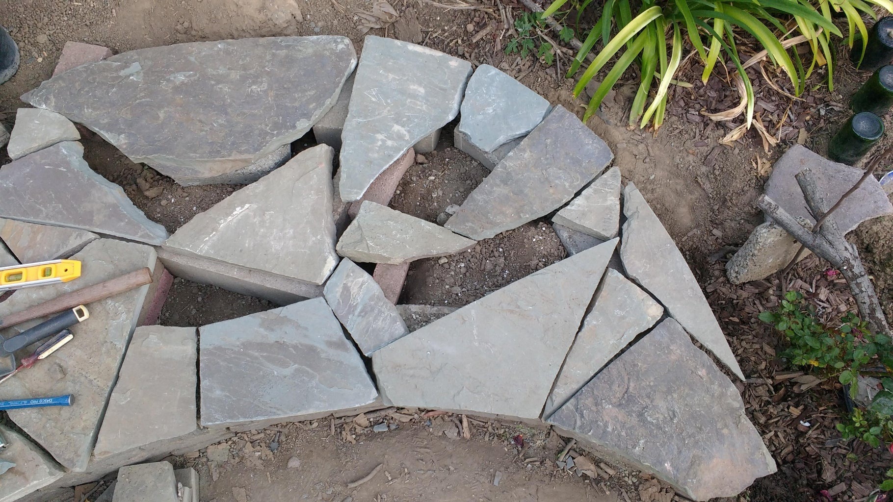 Creating the Base/Foundation/Support Under the Flagstone