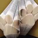 Paw Prints Folded Book Art