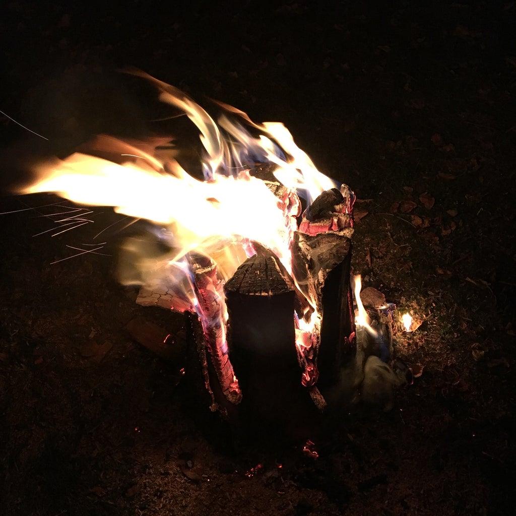 Watch the Fire Log Burn!