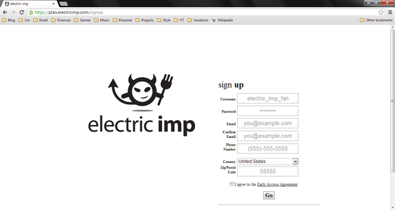 Create Electric Imp Account