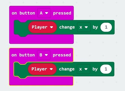 Programming Buttons: Moving Player