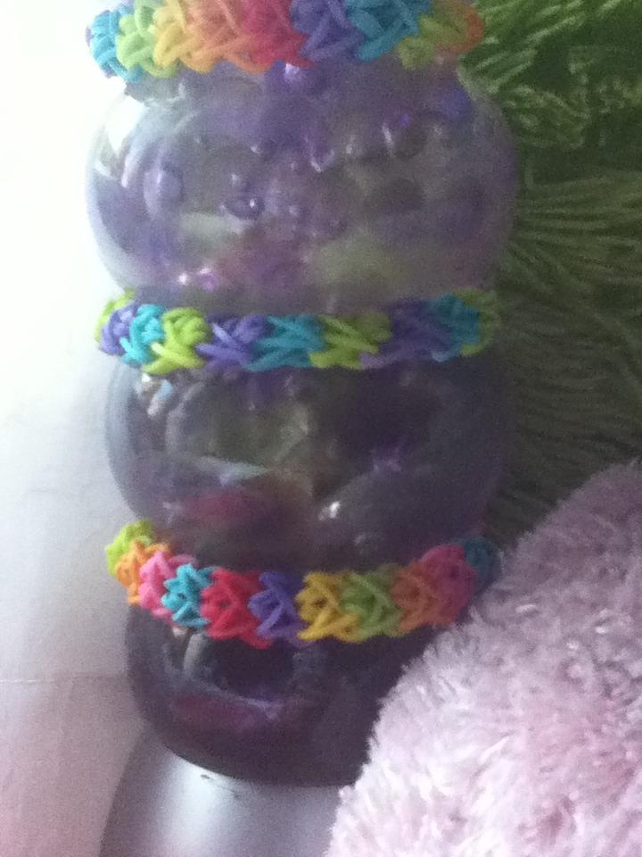 Double X Rainbow Loom Bracelet