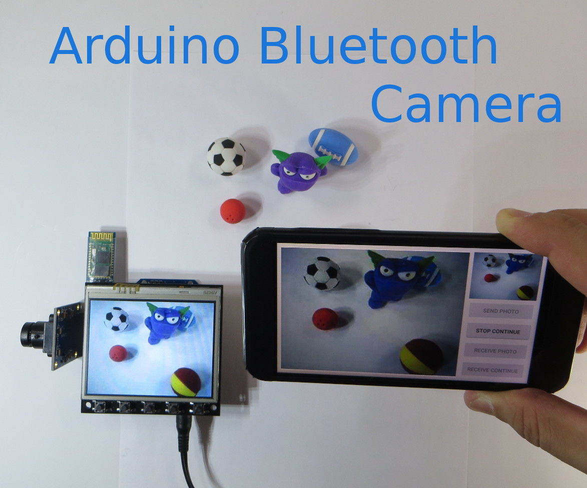 Unique Arduino TFT Shield: Arduino Bluetooth Camera
