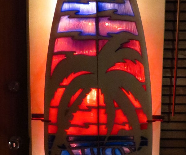 Stain Glass Surfboard
