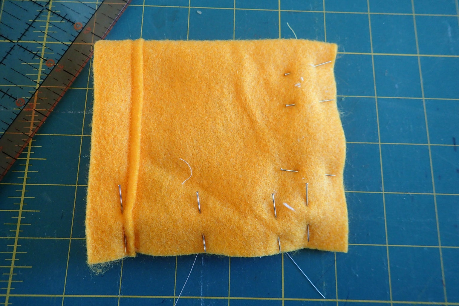Test the Size Felt Bag, Prep for Sewing