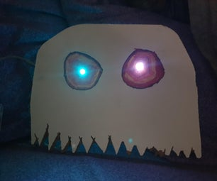 Spooky Ghost With Glowing Eyes