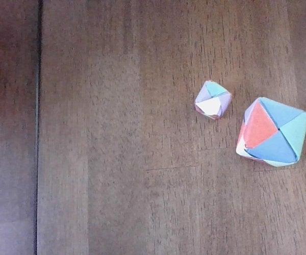 A Origami Modular Cube Rattler