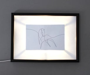 Hack a Picture Frame With Your Electric Paint Lamp Kit