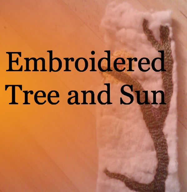 Embroidered Tree and Sun