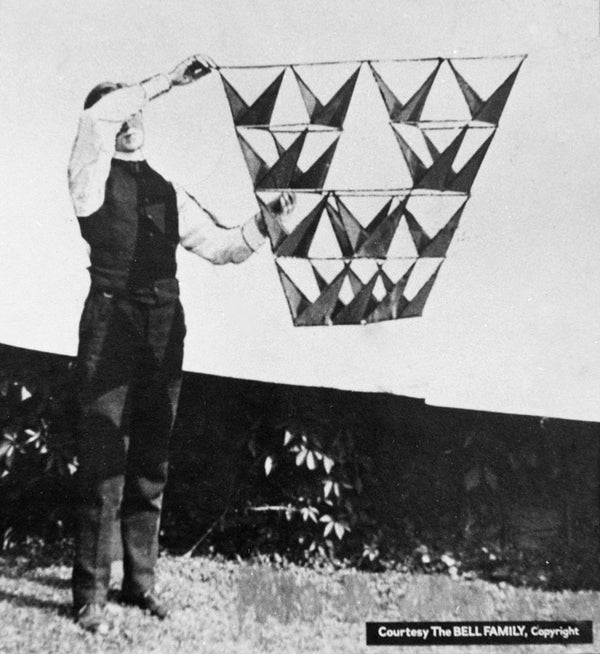 Tetrahedral Kite From the Dollar Store!