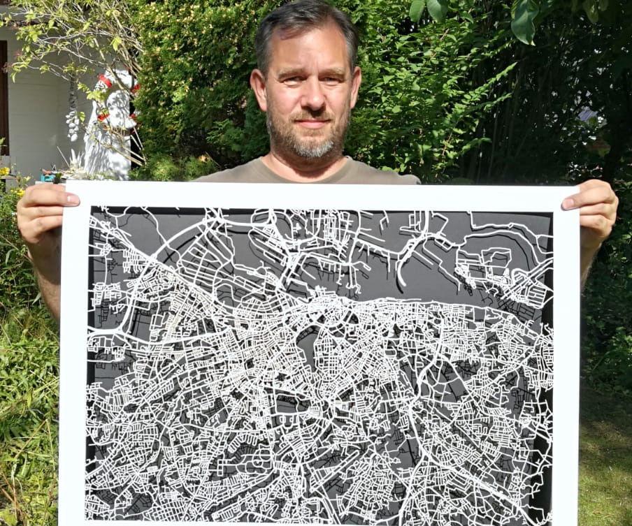Paper Lace Map