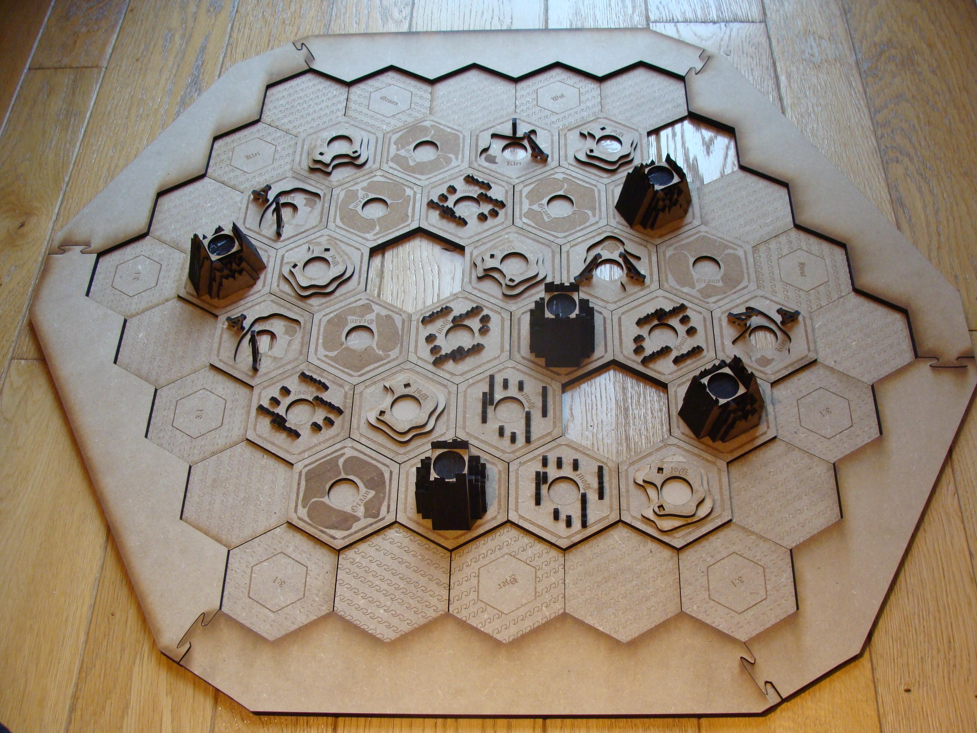 3D Settlers of Catan Board