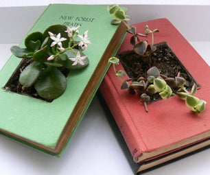 Recycled Book Planters