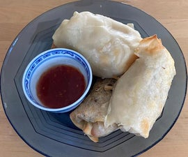 Spring Rolls Made With Noodles