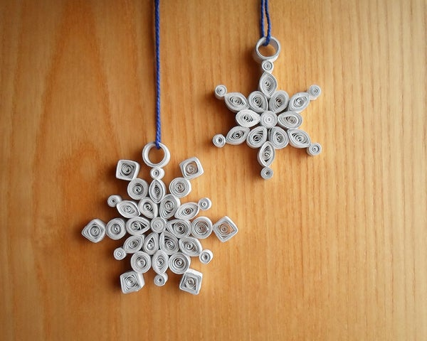 Quilled Snowflake Decorations