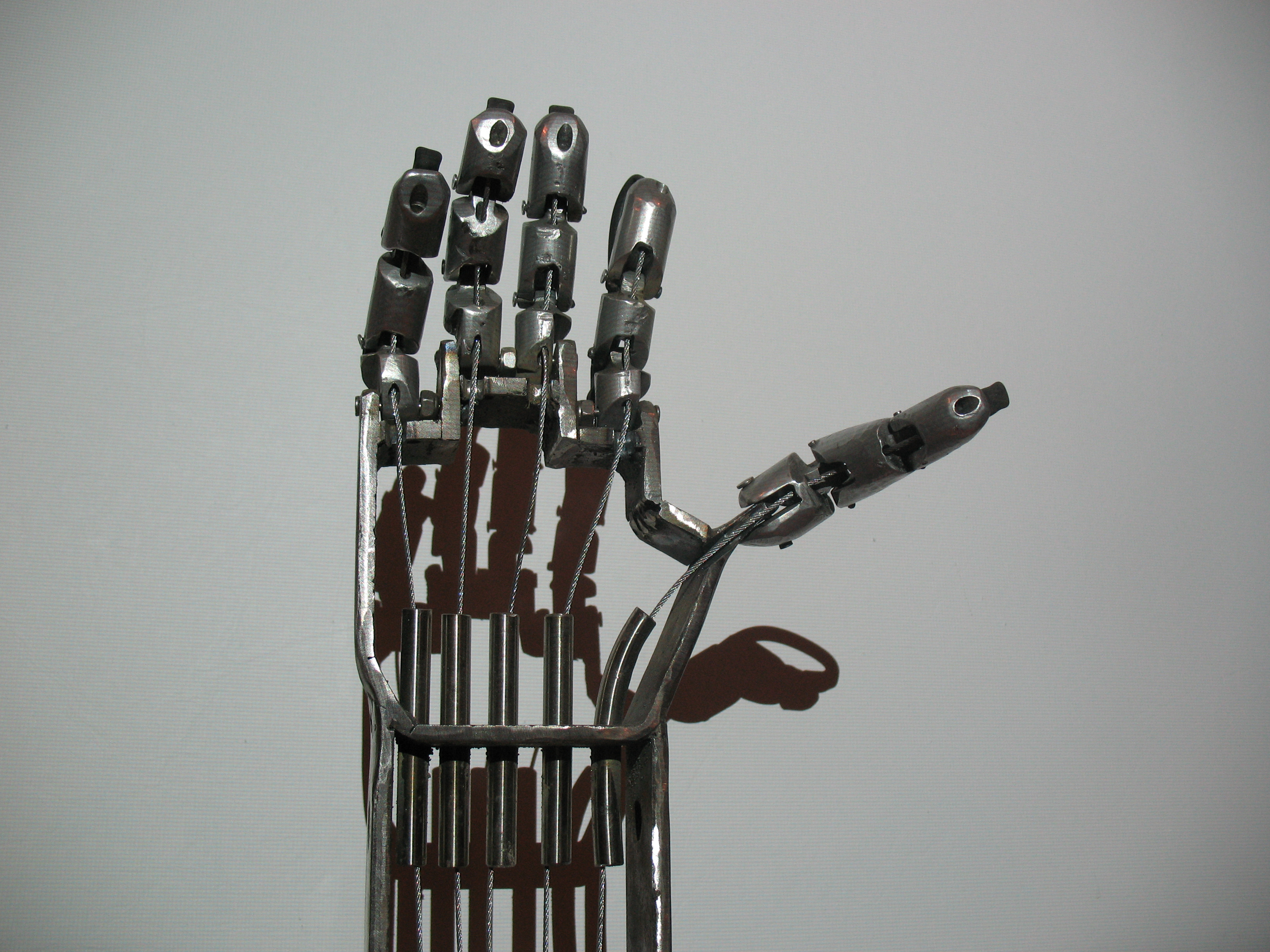animatronic hand statue