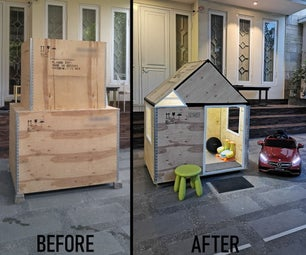 Kids Playhouse From DHL Wooden Crate