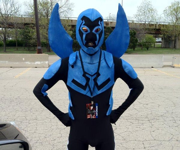 """How to Make a DC: """"Blue Beetle"""" Costume"""