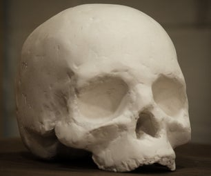 Laser Cutting Cardboard to Make a Human Skull