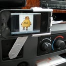 Rotating Car Mount for iPhone out of Recycled Electronics and Garage Junk