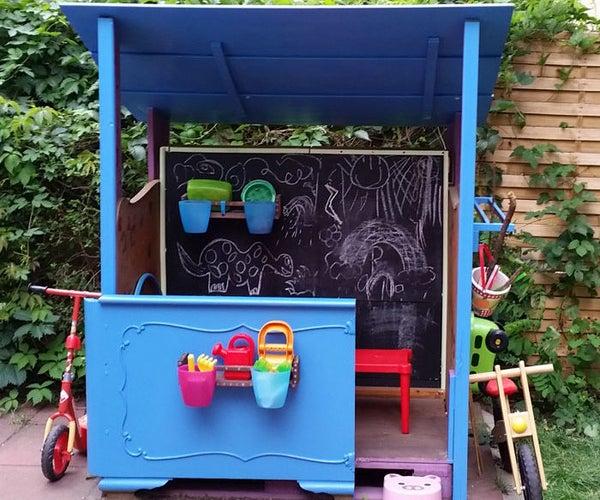 My DIY Upcycled Scrap & Pallet Wood Playhouse