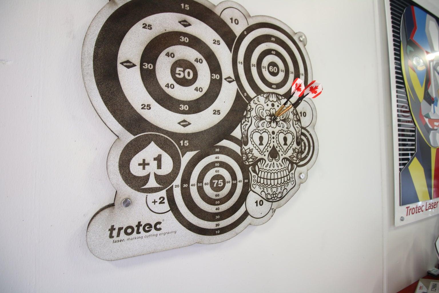 Custom Dart Board | Laser Engraved Cork Dartboard