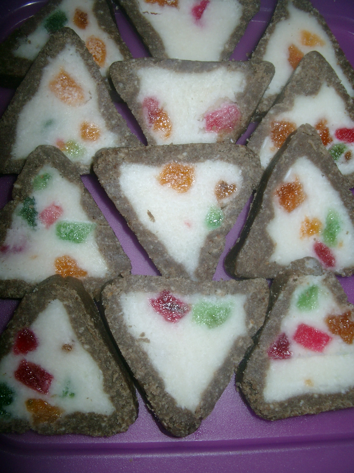 Jelly coconut triangles