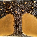 DIY Hot Glue Tree Art   Paint Your Own Metal-Effect Textured Wall Art