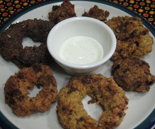 Bacon Wrapped Onion Rings (Ranch or BBQ Flavor)