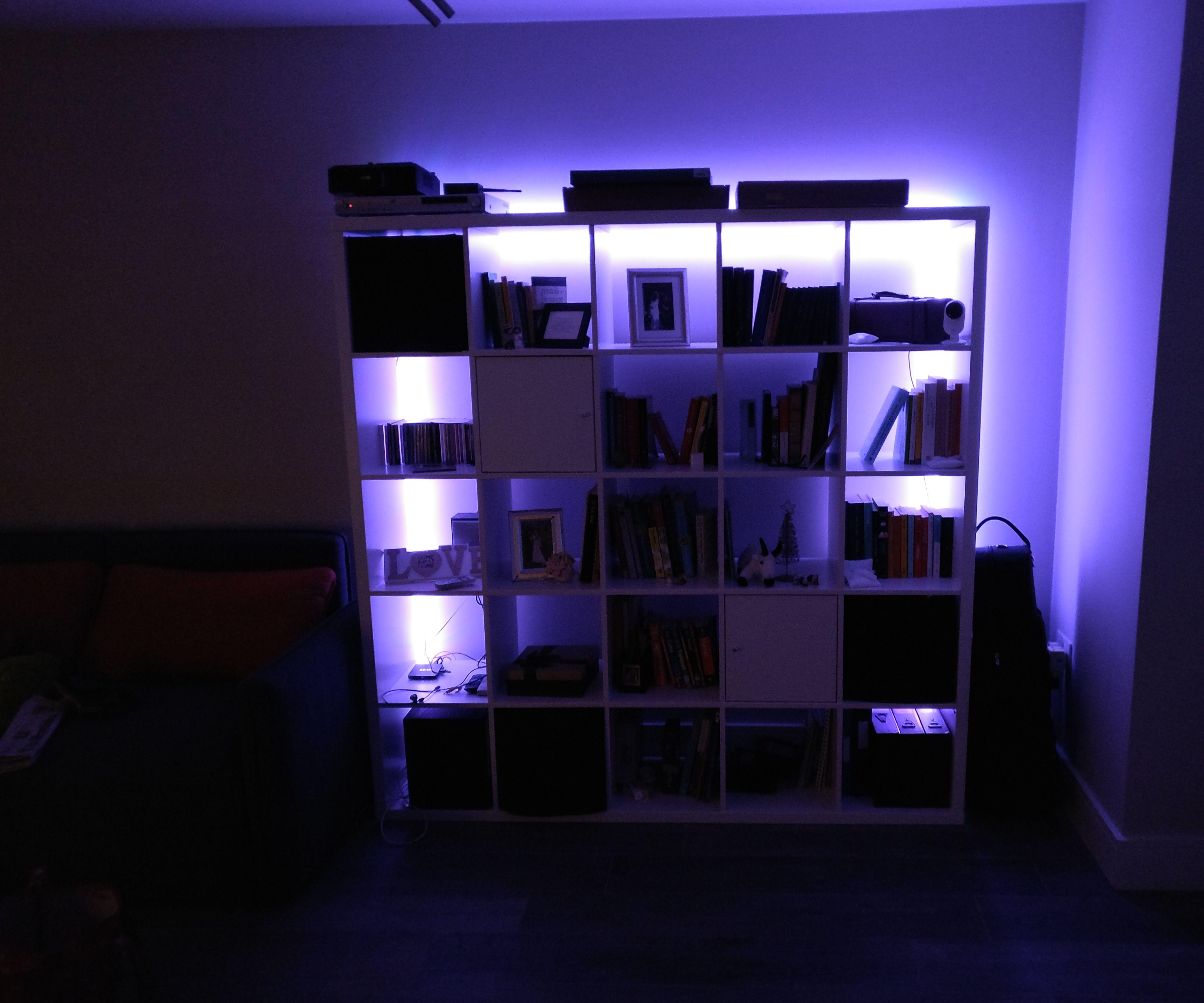 Glowing IKEA bookshelf