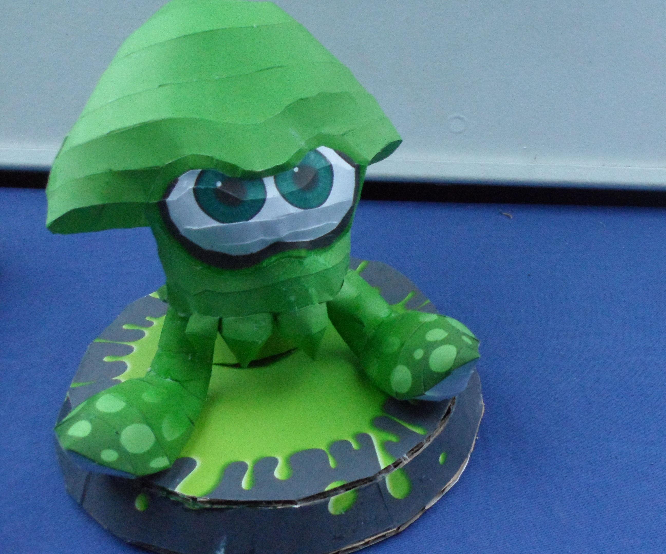Splatoon Papercraft: Green Squid