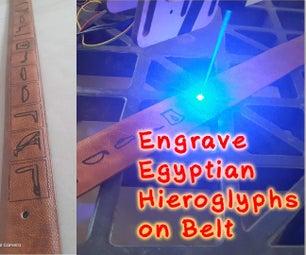 Engraving Egyptian Hieroglyphs on Belt