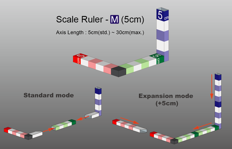3-Axis Scale Ruler - DIY Papercraft