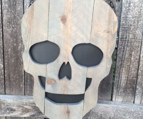 How to Make a Scary Wooden Fence Picket Skull
