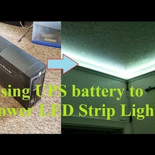 DIY Hack Mod Longer Working UPS Power LED Light Strip