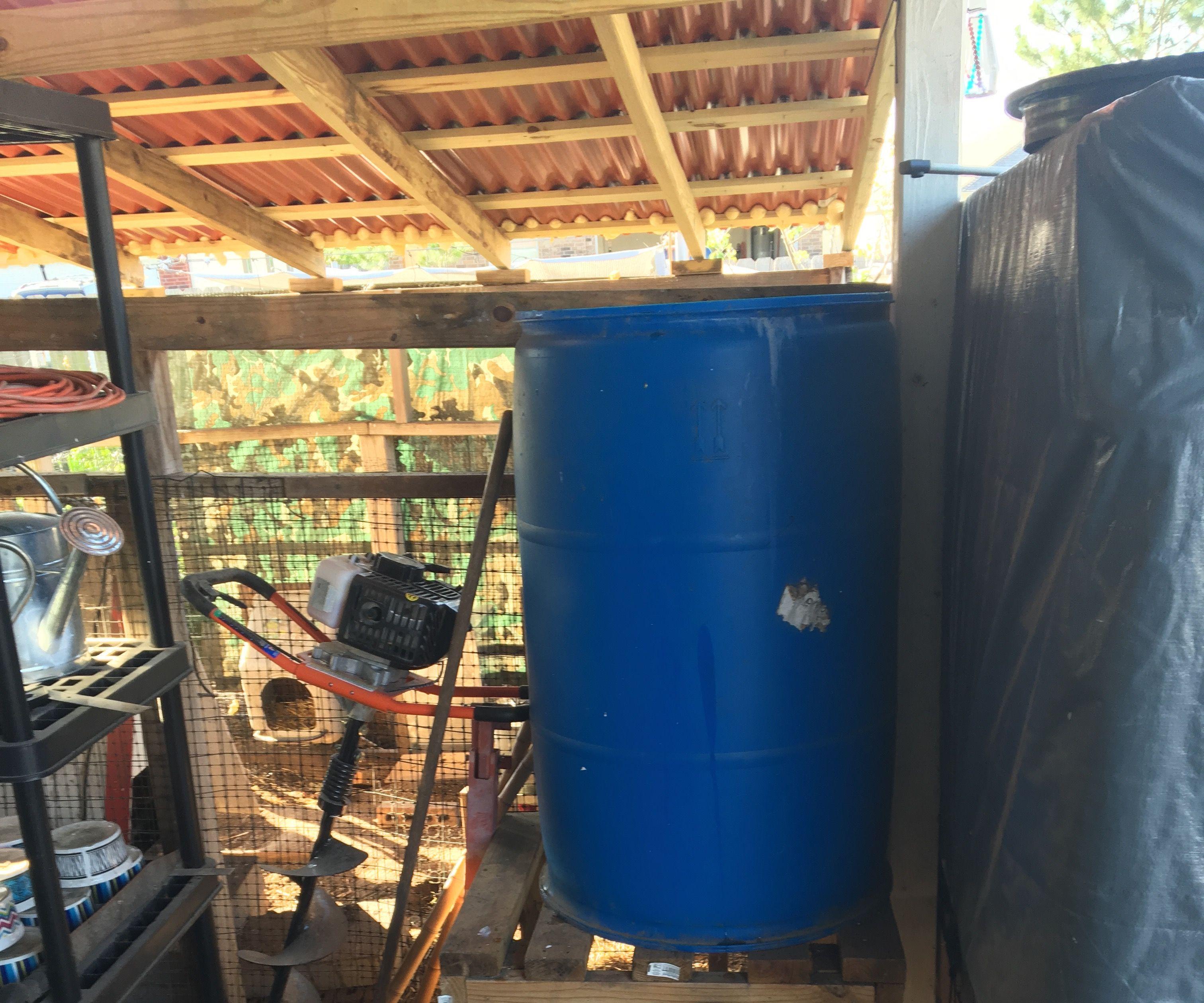 large water filter,  AKA slow sand filter