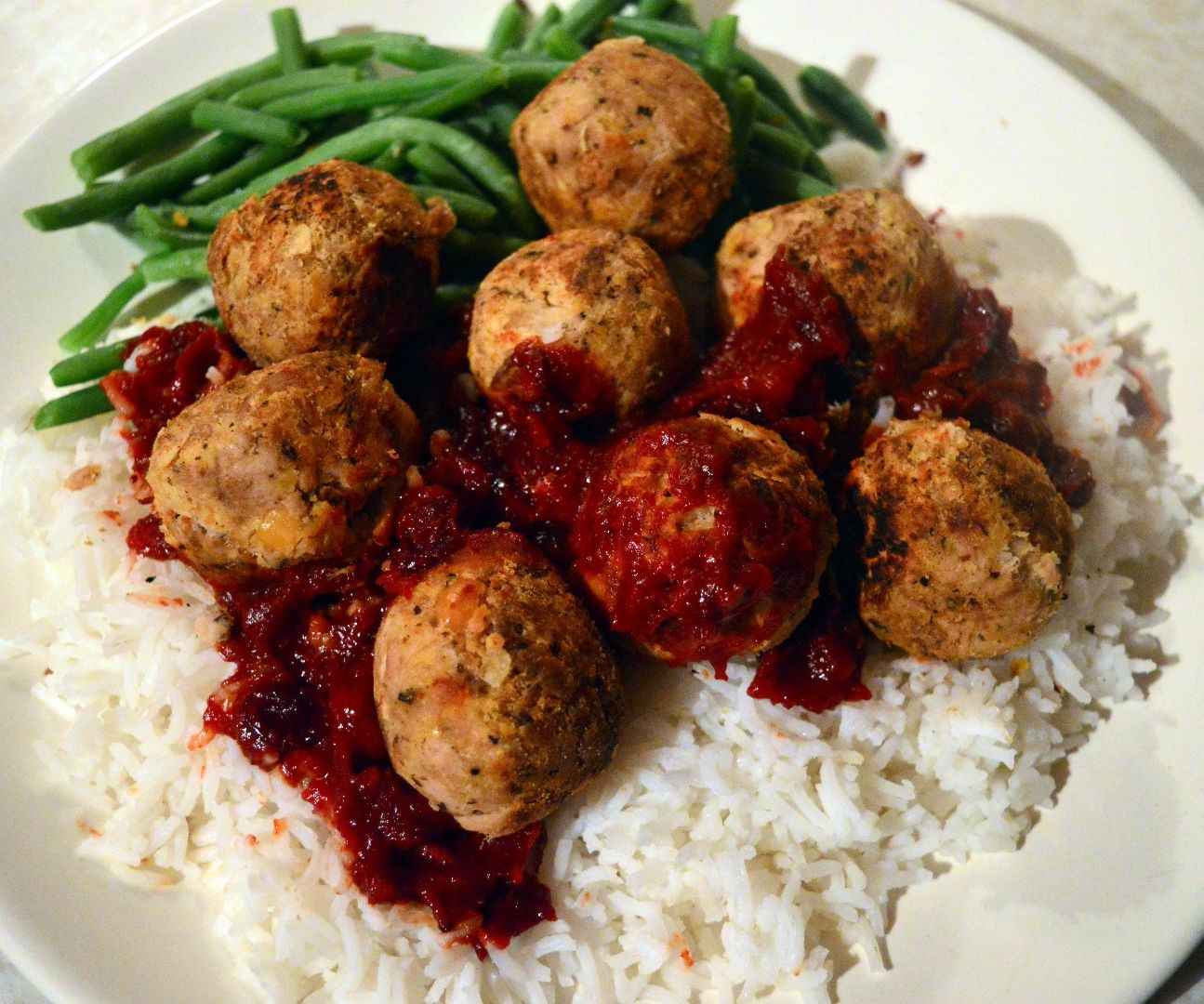 Tuna and Chickpea Meatballs With Cranberry and Jack Daniels Barbecue Sauce