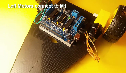 DC Motors and the QTR-8RC Sensor Connections