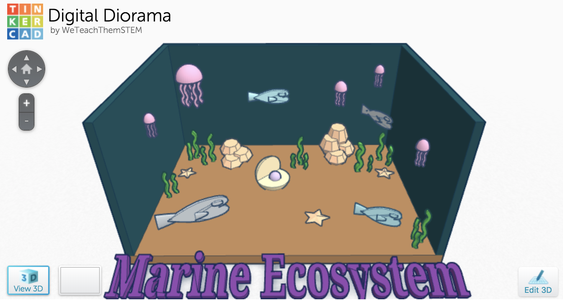 How to Design a Digital Diorama Using Tinkercad