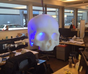 SKULLpilepsy!!!  3D Printed LED Lamp.