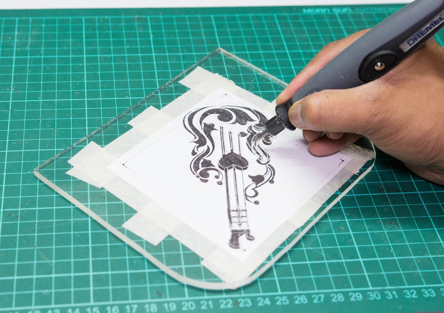 Etching the Acrylic Sheet