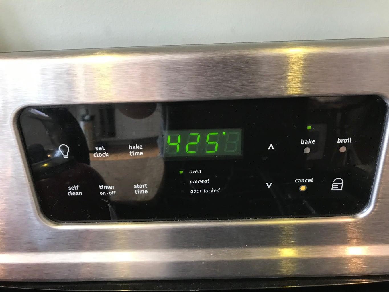 Preheat Oven to 425°
