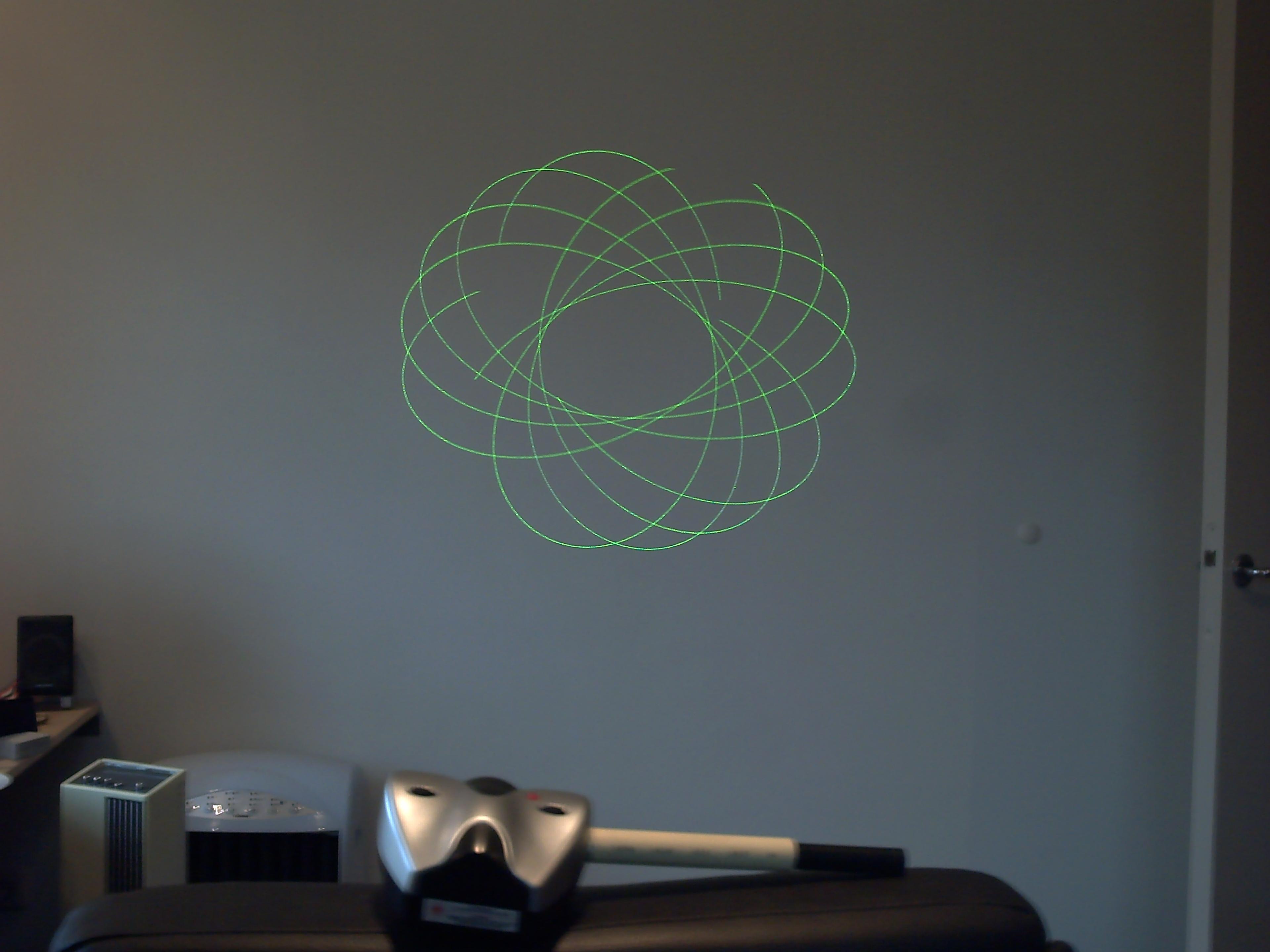 Pocket laser show mod