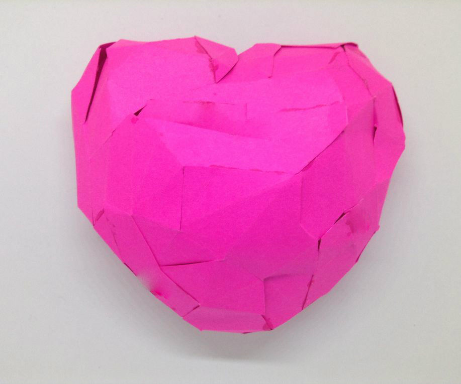 3D Papercraft Heart -- Without a 3D Printer!