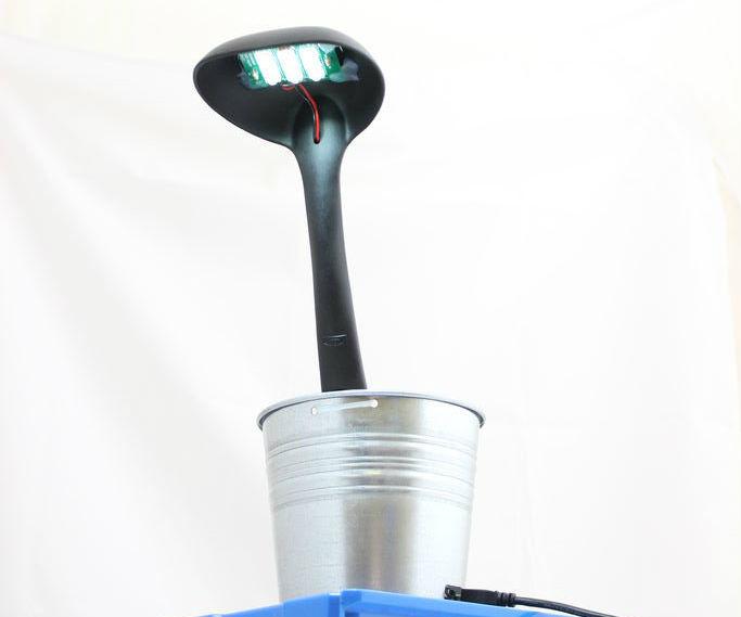 LED desk lamp using sugru, ikea nick-nacks and kitronik kit