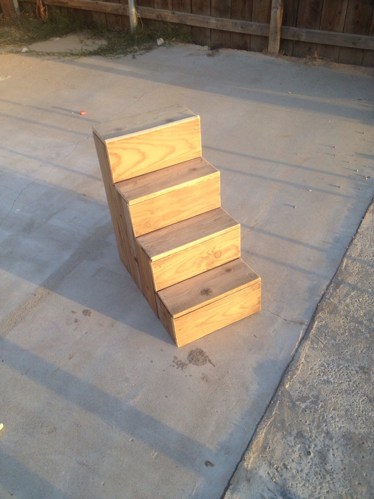Scrap Wood Dog Stairs