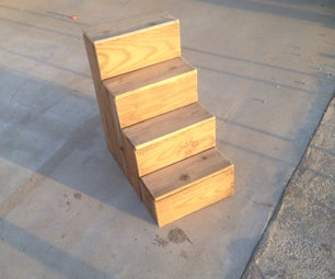 Scrap Wood Dog Stairs