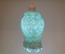 How to Crochet a Whimsical Light Fixture!