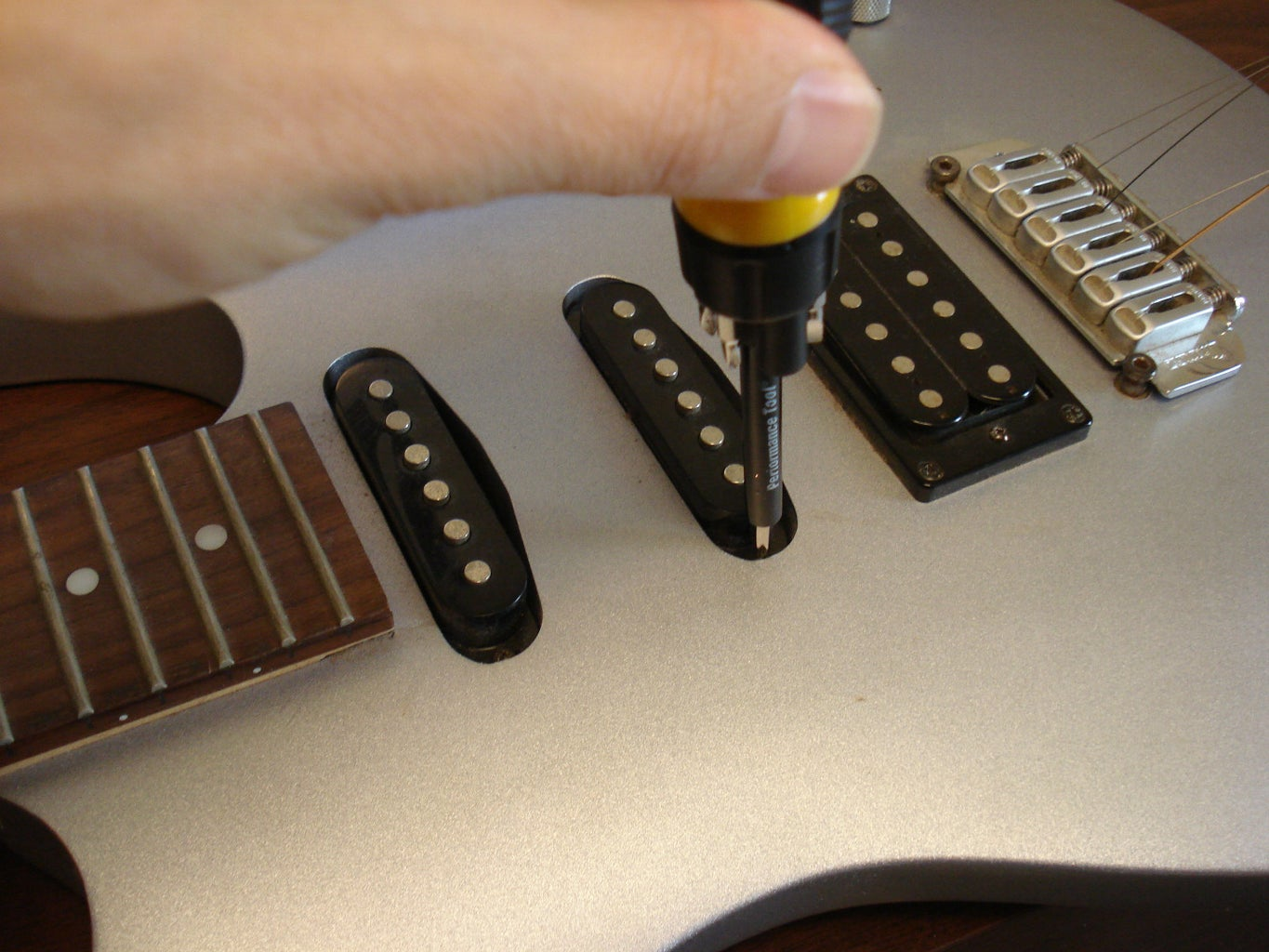 Find an Old Guitar and Remove a Pickup