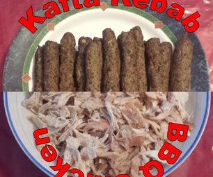 BBQ Chicken and Kafta Kebab Sandwiches